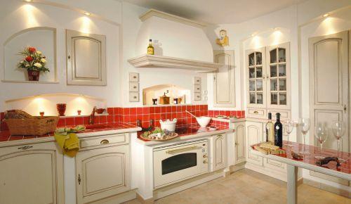 欧式风格厨房实木橱柜图片