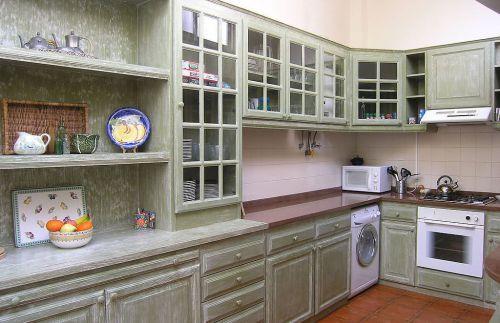 家居厨房实木橱柜效果图大全