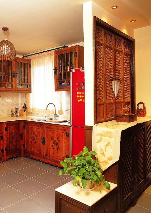 东南亚奢华复式东南亚厨房装修效果图