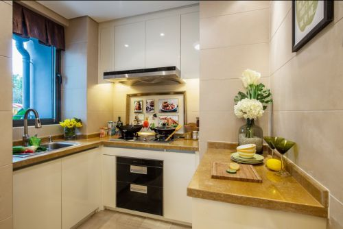 三居欧式风格三室两厅欧式厨房装修效果图