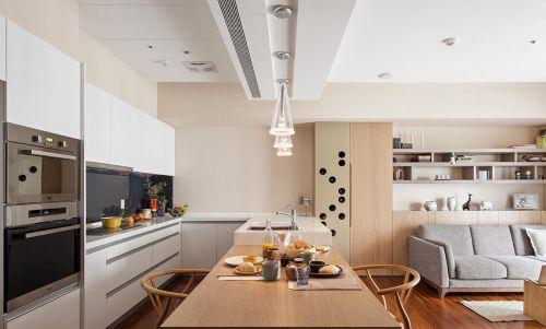 温暖来袭日式家装厨房橱柜设计效果图
