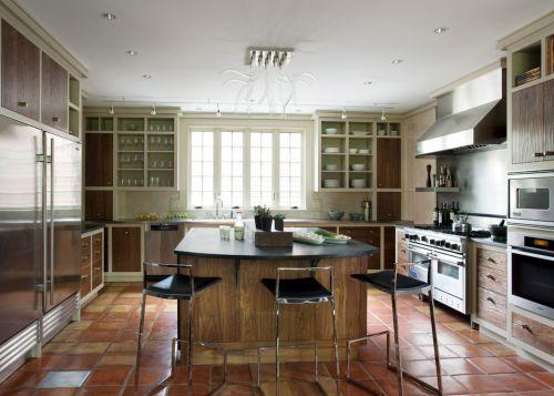 柿园别墅美式风格三室两厅美式乡村厨房美图