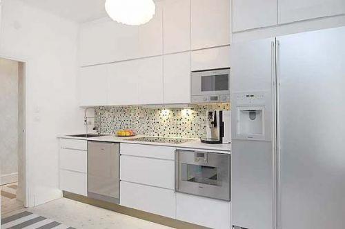 优雅的公寓设计现代风格厨房橱柜装修效果图