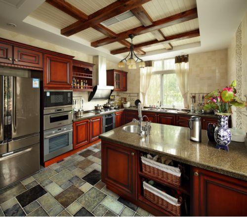 优雅新居三室两厅东南亚厨房装修效果图