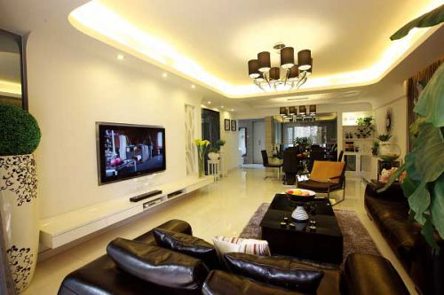武汉银湖翡翠四居室150平现代风格