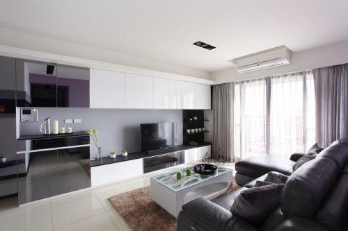 靛.紫82平米现代质感两室一厅