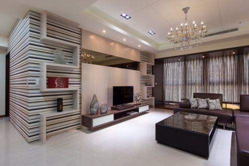 142平米现代时尚公寓装修实景图