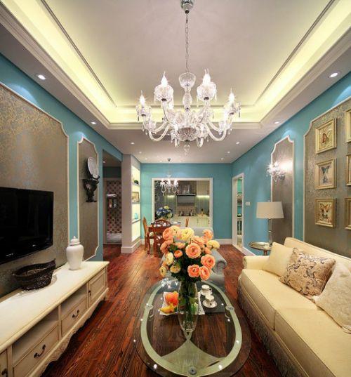 浪漫时尚精致简欧风格客厅吊顶