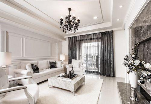 简欧风格时尚客厅吊顶装饰设计图片