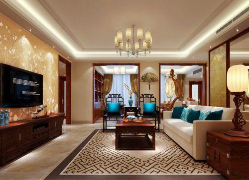雅致中式风格客厅吊顶效果图