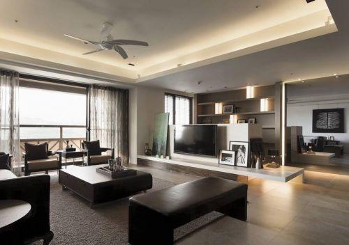 中式风格简洁客厅吊顶美图