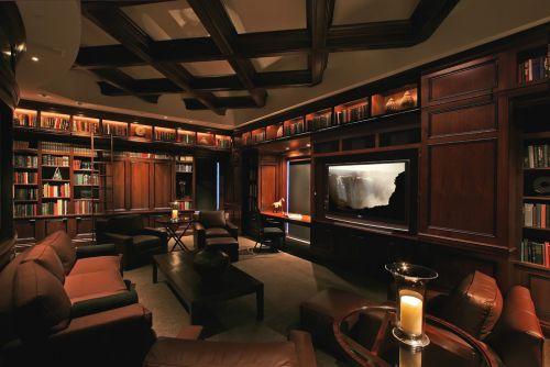 黑色中式客厅吊顶设计赏析