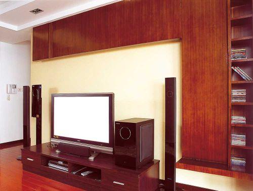 大气现代美式风格客厅电视背景墙装修展示