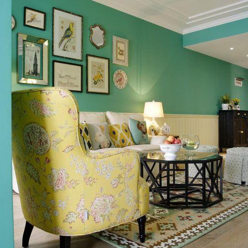 美式家居客厅背景墙案例欣赏