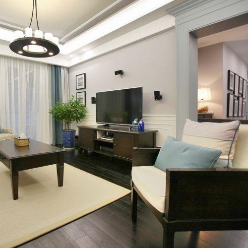 简约美式客厅背景墙设计装潢大全
