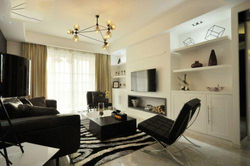 美式雅致风格客厅装潢背景墙装修