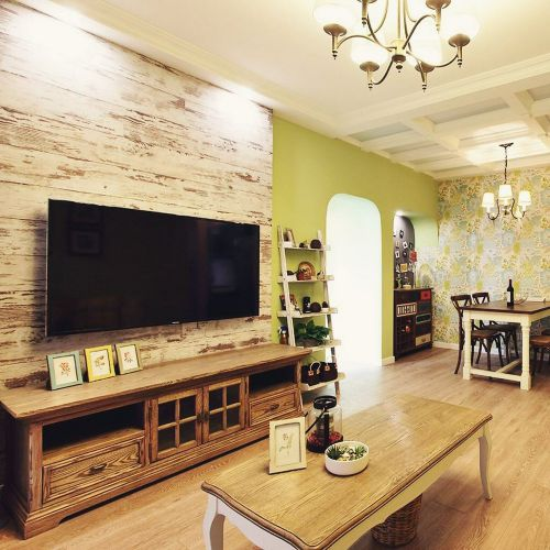 摩登时尚美式风格客厅电视背景墙美图