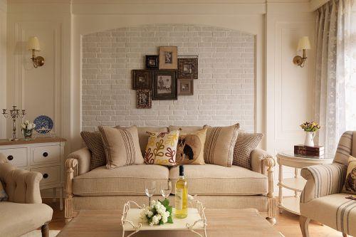 美式风格客厅背景墙装修设计欣赏