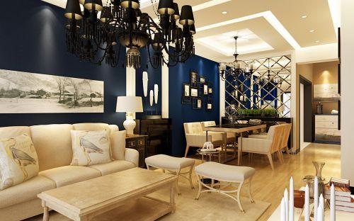2016简约米色餐厅吊顶效果图设计