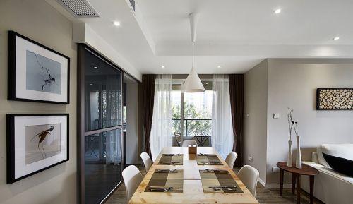 灰色简欧风格餐厅吊顶图片