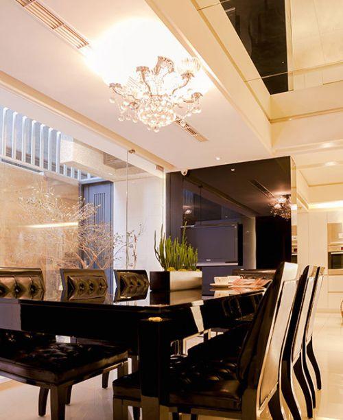 2016米色简欧餐厅吊顶设计装潢