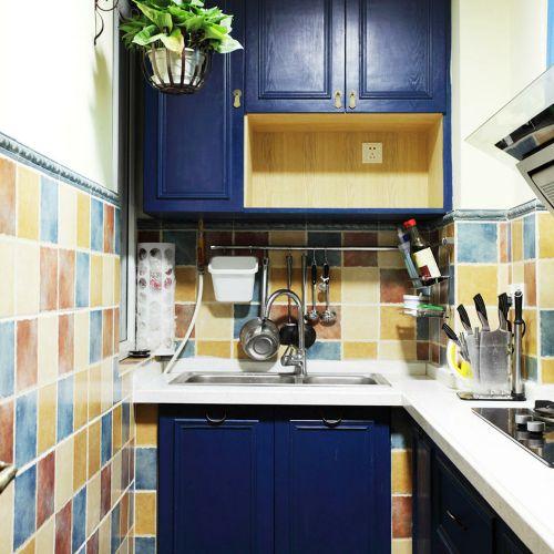个性雅致美式风格厨房橱柜装修案例