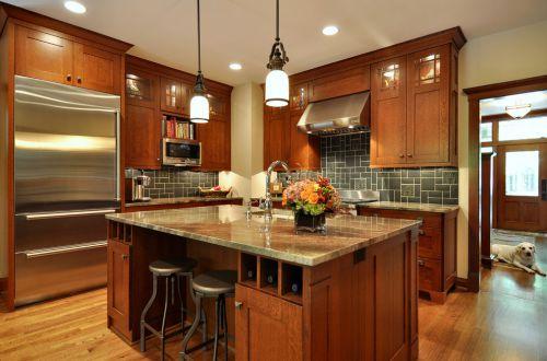 雅致美式风格开放式厨房橱柜设计赏析