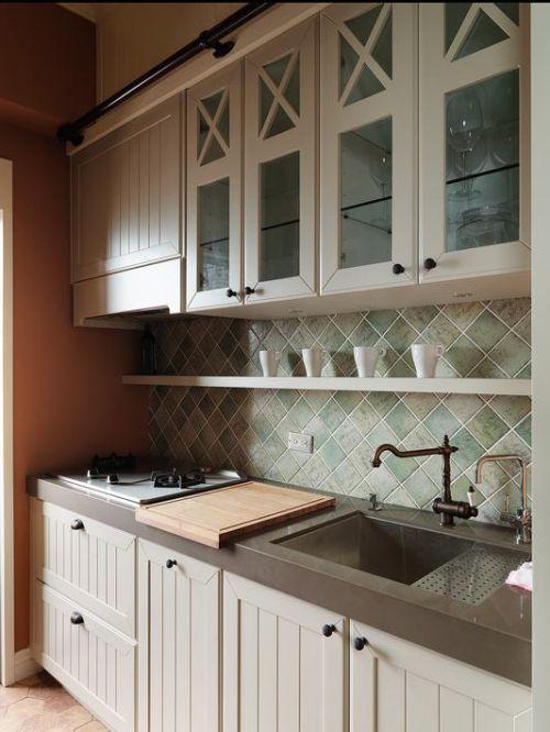 清爽美式厨房橱柜设计