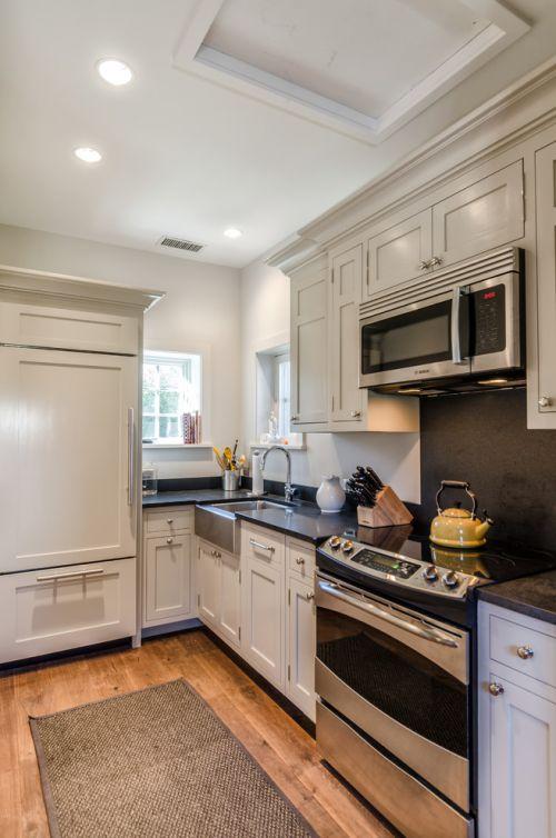 米色清新美式风格厨房橱柜设计图片