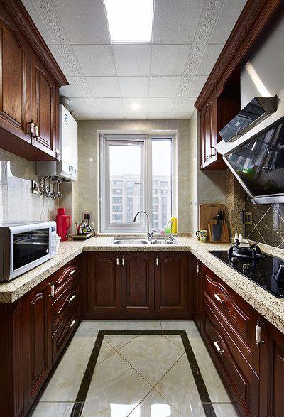 2016美式实用厨房橱柜设计装潢