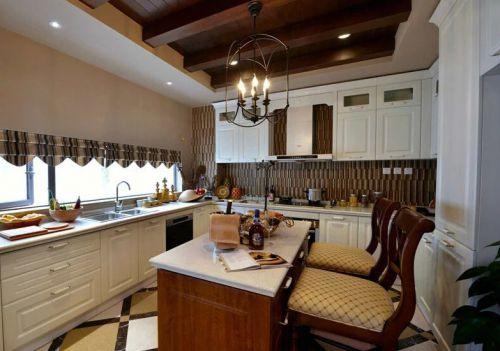 美式风格白色清新厨房橱柜效果图赏析