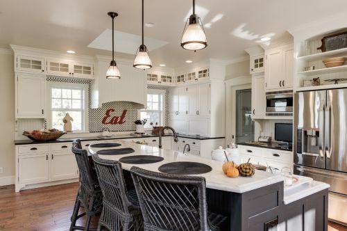 2016雅致米色美式风格厨房橱柜装修布置