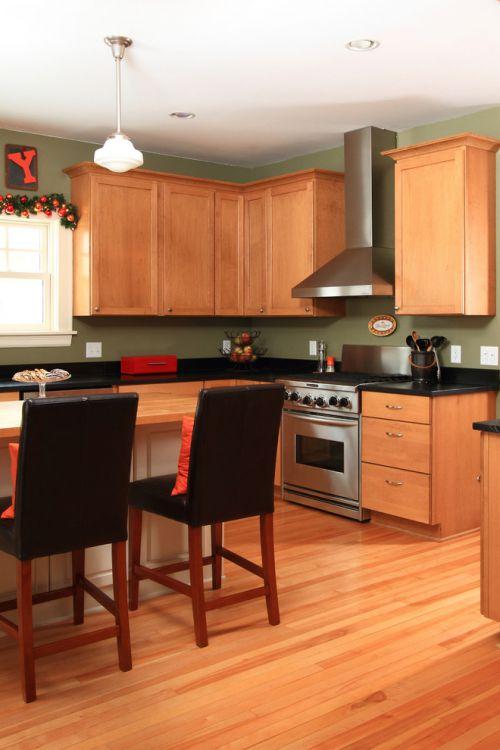 美式原木时尚2016厨房橱柜装修图