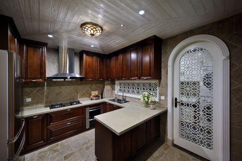 美式厨房橱柜装修案例
