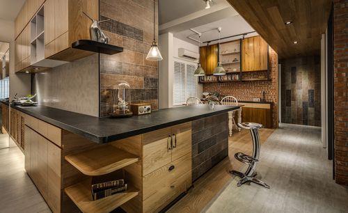 现代时尚厨房橱柜装修布置
