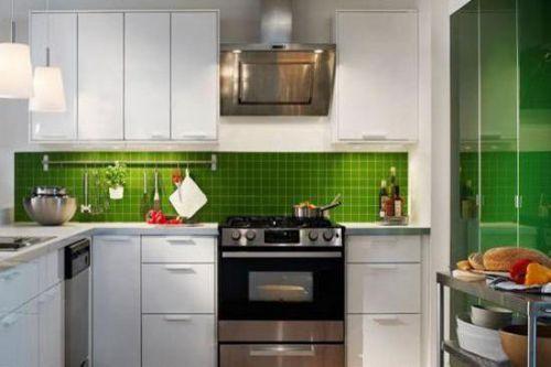 现代实用绿色家庭厨房橱柜设计装潢
