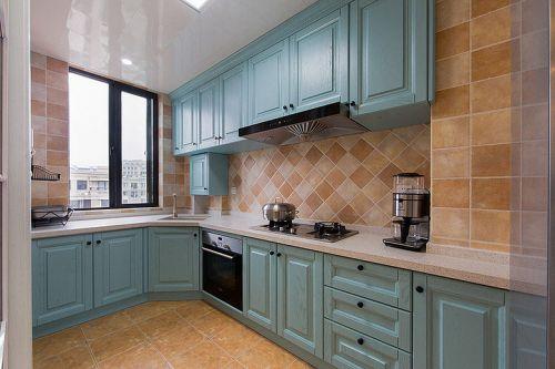 绿色素雅简欧风厨房橱柜装修设计
