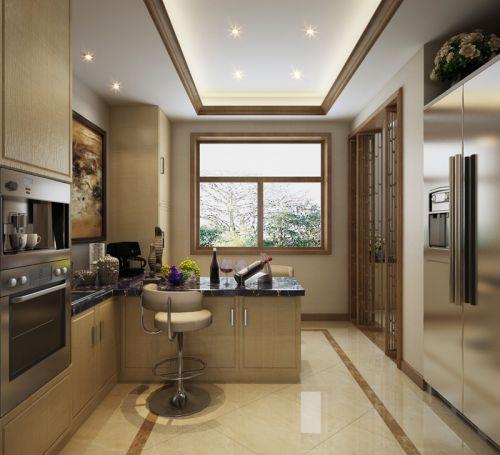 质感灰色简欧风格厨房装修设计