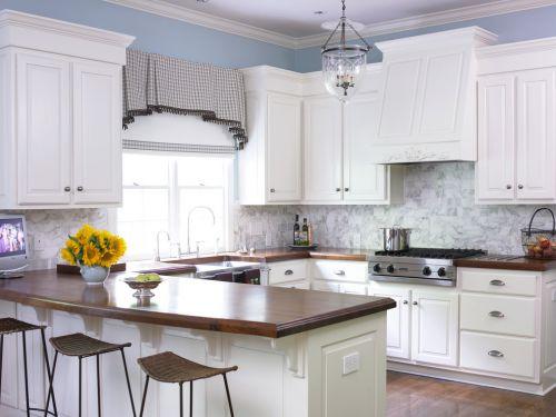 白色素雅简欧风格厨房橱柜装修赏析