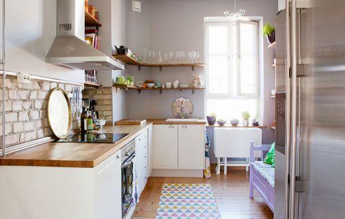 简欧室内厨房家装效果图欣赏