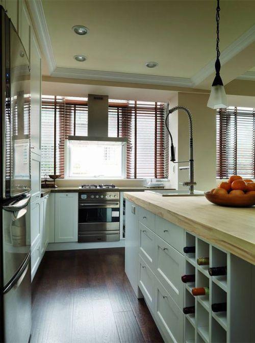 清新简洁田园风格厨房橱柜设计欣赏