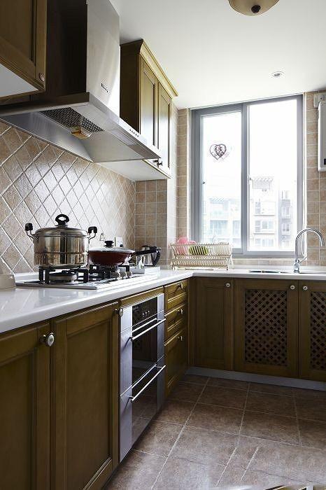 田园厨房橱柜装潢设计