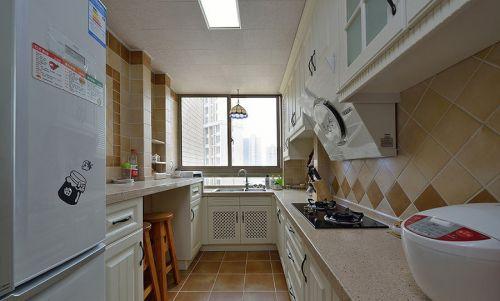 田园黄色厨房橱柜装修设计