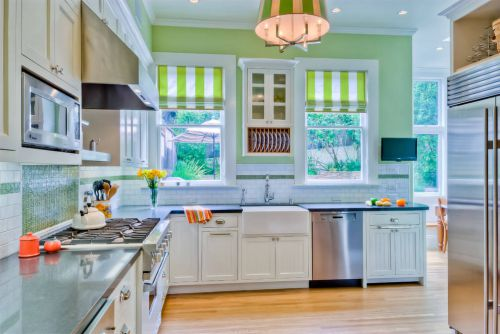 创意浪漫田园风格厨房橱柜装修设计