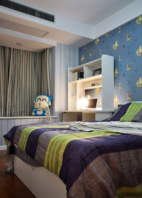 现代风格蓝色儿童房装修效果图