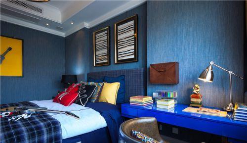 现代风格蓝色个性儿童房装修图片
