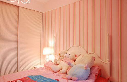 甜美粉色简约风格儿童房装修布置