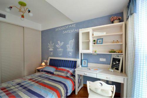 地中海风格清新蓝色儿童房设计图片