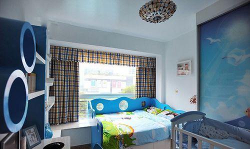 蓝色地中海风格儿童房装饰案例