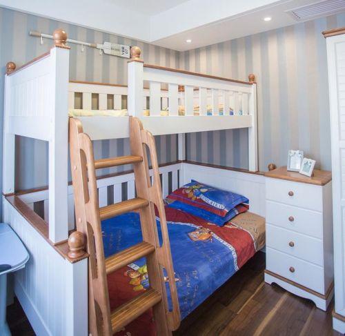 蓝色清新地中海风格儿童房设计案例